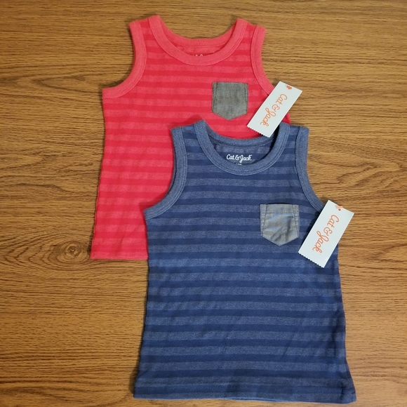 Cat & Jack Baby Boys' Striped Tank Top Set 18M